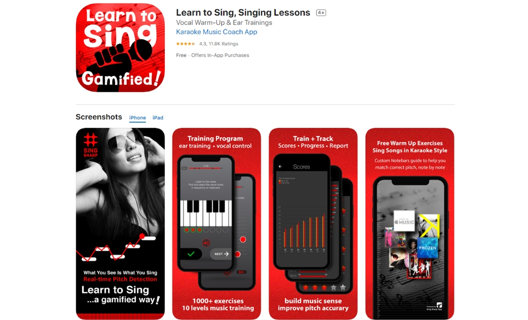 Ryan Cheung's work - Sing Sharp app